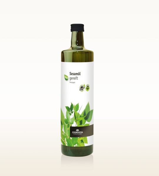 Sesamöl gereift bio 1 Liter Glasflasche