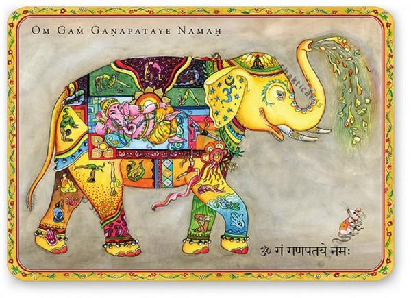 Ganesha-Postkarte