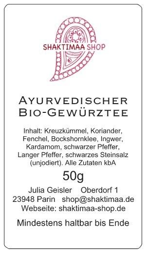 Ayurvedischer Bio-Gewürztee 50g