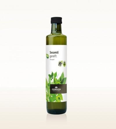 Sesamöl gereift bio 500ml Glasflasche